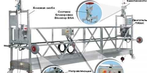 Строительная люлька, подвесная рабочая платформа Tractel Alta