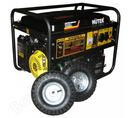 Электрогенератор Huter DY6500LX с колёсами и аккумулятором на прокат