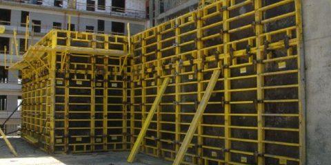 Крупнощитовая стальная опалубка аренда алматы